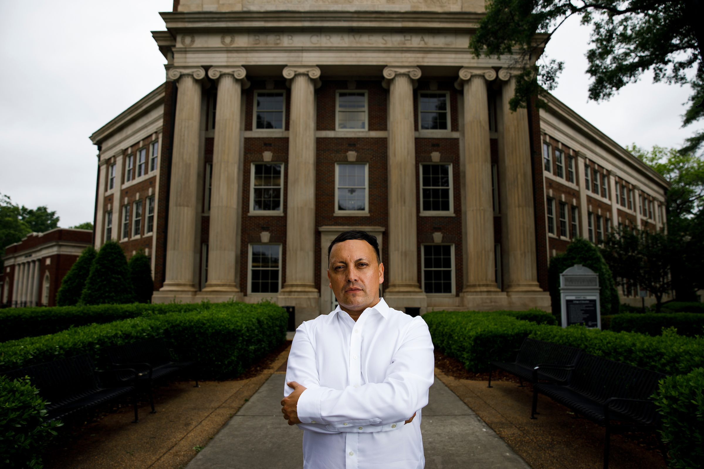 Julio Gomez, a Colombian graduate student at The University of Alabama