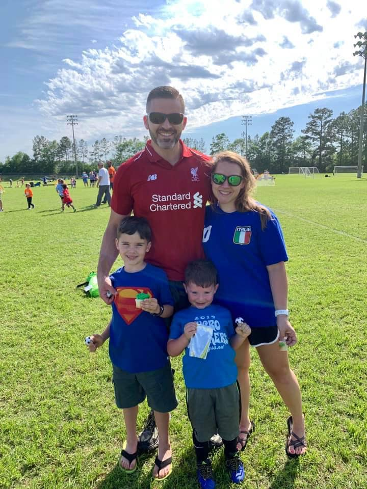 The flexibility of online learning allows Kerry Varner time to coach soccer for his son.