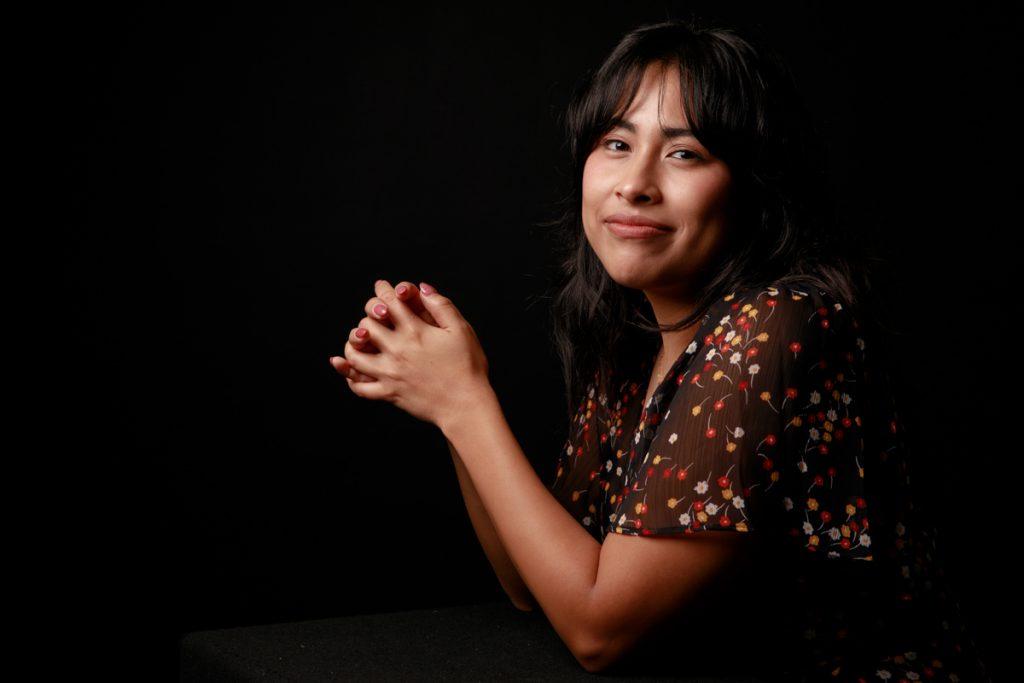 Nayeli Pineda, a C&IS master's candidate, gazes boldly ahead.